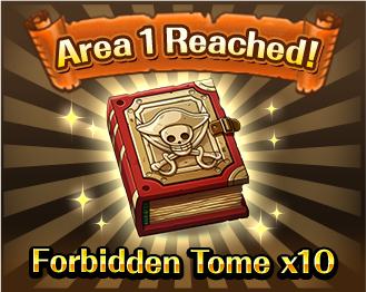 Area 1 Reached!Forbidden Tome x10