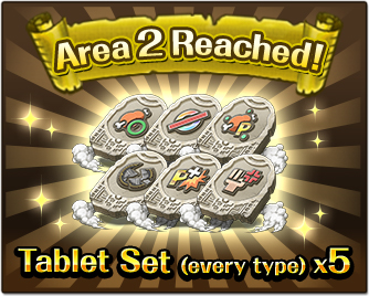Area 2 Reached!Tablet Set (every type) x5
