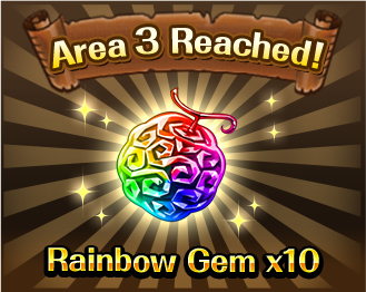 Area 3 Reached!Rainbow Gem x10