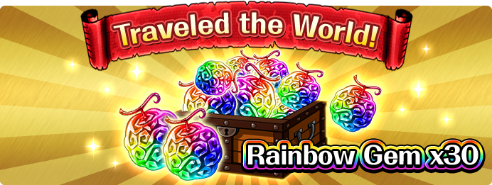Traveled the World!Rainbow Gem x30